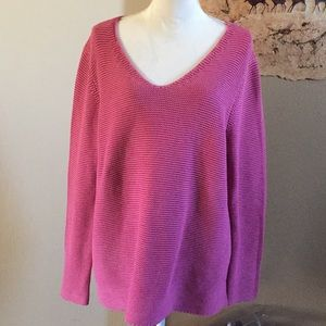 Tommy Bahama pink cotton sweater, XL